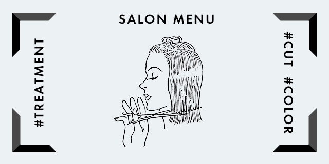 SALON HAIR MENU